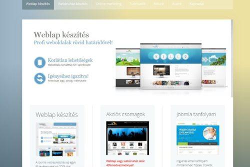 Látványos weboldal készítés cégeknek