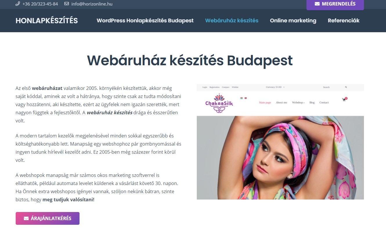 Profi webshop, webáruház készítése